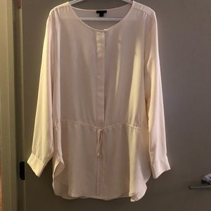Ann Taylor tunic top with draw string waist